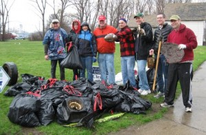 Guild members conducted a litter cleanup of the small park at the Ohio Street Boat Launch on April 26.
