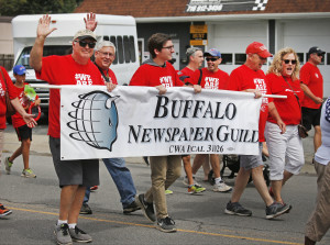 Guild members march in the Labor Day Parade.