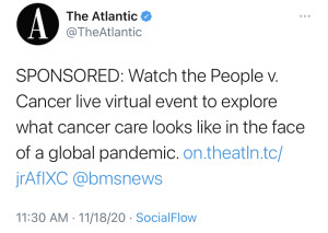 Atlantic labeled tweet